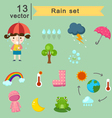 raining vector image