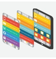 Set mobile interface and elements vector image