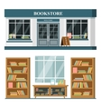 Set of detailed flat design bookstore vector image