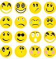 smileys vector image