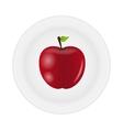Sweet tasty apple on plate vector image