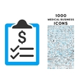 Invoice Pad Icon with 1000 Medical Business Icons vector image