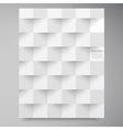 white squares Abstract backround vector image