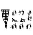 trash icons vector image