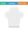 Flat design icon of Chief cap vector image