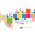 abstract colorful geometric square border pattern vector image