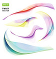 abstract colorful wave twist spiral set on white vector image