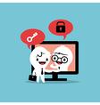 e-commerce deal business cartoon vector image