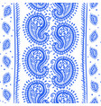 indian seamless pattern wallpaper with paisley vector image