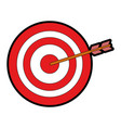 isolated target shooting vector image