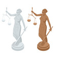 isometric statue of god of justice themis or vector image