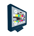 LCD Plasma TV Television Test Pattern vector image