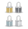 Padlock collection vector image