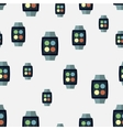 seamless pattern of smart watches vector image