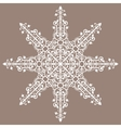 Vintage background ornament lace star vector image