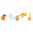 Jungle critters set vector image vector image