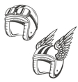 Baker helmet with wings Design element for logo vector image