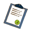 clipboard with check mark icon image sketch style vector image