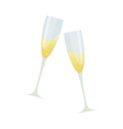 Cartoon of two glasses of champagne vector image