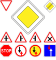 road signs priority vector image vector image