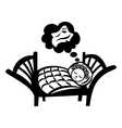 Girl sleeping icon vector image