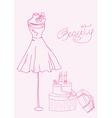fashion dress doodles vector image