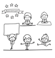 cartoon charactor happy businessman vector image