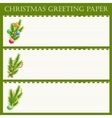 Christmas greeting paper vector image