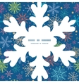 colorful doodle snowflakes Christmas snowflake vector image