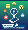 facebook social media emoticon background i vector image