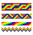 seamless brushes in rainbow colors vector image