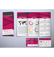 Template triple folding brochure design style vector image