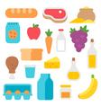 Flat design farm products set vector image