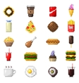 Pixel art food icons vector image