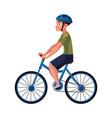 bicycle cycle bike rider cyclist wearing helmet vector image