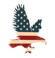 eagle silhouette on the usa flag background vector image