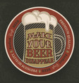 colorful vintage drawing with glass beer for bar vector image