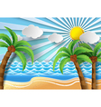 palm with island vector image