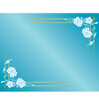 light blue card with flowers and gradient vector image vector image