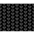diamonds pattern black and white vector image