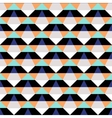 Abstract geometric color blocked pattern vector image