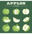 apple sethand drawn apples vector image