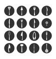 crockery icon set vector image