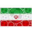 Iran soccer balls vector image