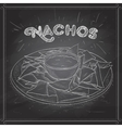 Nachos scetch on a black board vector image