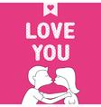 Romantic card72 vector image
