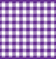 seamless violet white traditional gingham pattern vector image