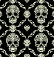 Skull Ornamental Pattern vector image