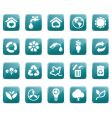 eco icons glossy vector image vector image