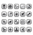 astronomy and space icons vector image vector image